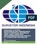Sistem Pengendalian Manajemen Pada PT Surveyor Indonesia