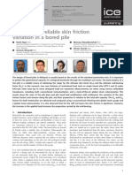 Appraisal of Reliable Skin Friction Variation in a Bored Pile