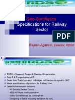 Geosynthetics Specifications for Railway
