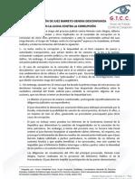 ACTUACIÓN DE JUEZ BARRETO GENERA DESCONFIANZA EN LUCHA CONTRA LA CORRUPCIÓN