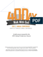 40 Day Walk With God