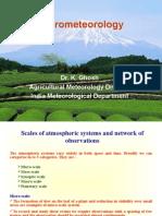 Crop Micrometeorology