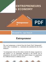 Roll of Entrepreneurs in Indian Economy