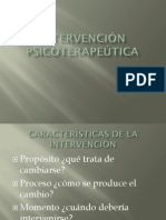 6. INTERVENCIÓN PSICOTERAPEÚTICA