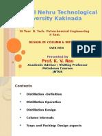 Design of Column & Internals- Overview