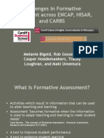 Challenges in Formative Assessment Group Presentation