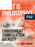 What is Philosophy? Embodiment, Signification, Ideality