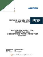 Hydrotest Method Statement 12th Mar 2012 1