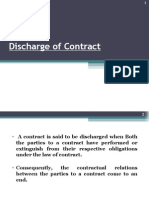Discharge of Contract (COMMERCIAL LAWS)