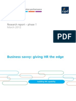Business Savvy Giving HR the Edge