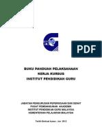 Buku Panduan Pelaksanaan Kerja Kursus Versi 2012