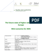 The future state of higher education in  Europe