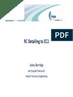 RC Detailing to EC2