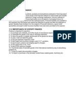 Need for Export Finance for PGIB