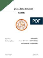 Solar Simulator Report