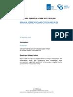 Rencana Pembelajaran (Manajemen Dan Organisasi) v 2