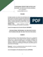 Cultura Profesional Docente Innovación y TIC Luz Salazar 2004