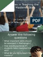 strategiesinteachingtheleastmasteredskills-140512103344-phpapp02