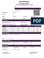 DU Application Form