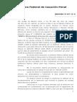 BANFO Sancion Disciplinaria Sala IV CFCP