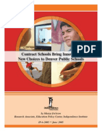 Contract Schools Bring Innovative New Choices to Denver Public Schools