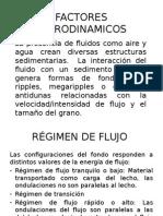FACTORES HIDRODINAMICOS Ambientes Sedimentarios