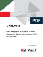 Acti KCM-7911 Hardware Manual