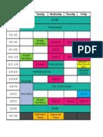 New Drain Schedule 14.15