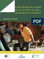 La Inclusión Del Enfoque de Equidad de Género en El Sector Agua y Sanemaiento en Honduras. Diagnóstico y Propuesta