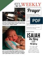 February 17 2015 Newsletter