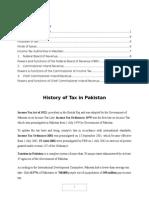 History of Tax in Pakistan