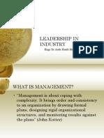 Week 6-Leadership in Industry