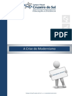 A Crise Do Modernismo