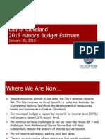 2015 Mayor Budget Estimate