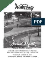 Waterbury Town Report 2014