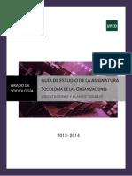 Guia de Orientación Para El Estudio Sociologia de Las Organizaciones