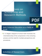 Perspectives on Scholarship and Research Methods