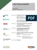 Programa Jornada Radiografía del Emprendedor Aragonés
