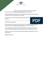 Conveyer Price Changes Feb 2015