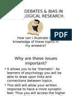 Psychology Issues & Debates