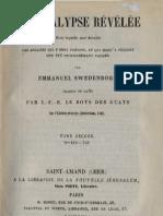 Em Swedenborg L'APOCALYPSE REVELEE Tome Second Chapitres IX XVII Numeros 419 752 LeBoysDesGuays 1857