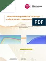 Simulation du procédé de sertissage molette sur les ouvrants automobiles
