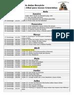 Calendário Aulas Berçário 2015