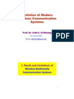 Lec 1- Evolution of Modern Wireless Comm Systems