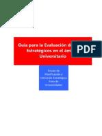 Guía Para La Evaluación de Planes Estratégicos