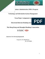 HSBC Bank Term Project Report