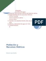 Población y Recurso Hídrico