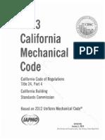 2013 California Mechanical Code