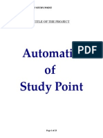 Automation of Study Point