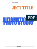 Automation of Photo Gallery Synopsis